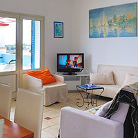 Living room and the television