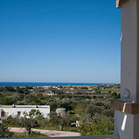 The double bed of the small bedroom