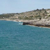 The rocky beaches near Leuca