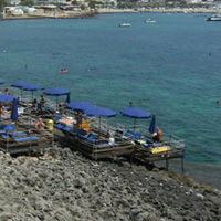 Rocky beaches in Leuca