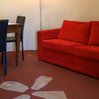 The living room of the Large Trullo