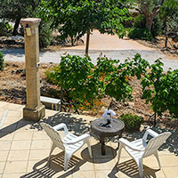 The panoramic view from the Large Trullo