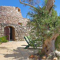 The entrance of the Large Trullo
