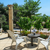 Relax in front of the Large Trullo