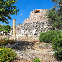 The Large Trullo among the trees